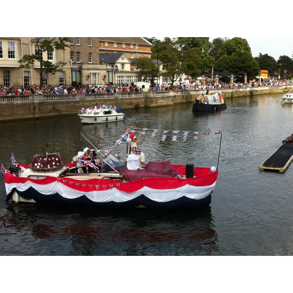 Boats in the Parade at the Bedford River Festival