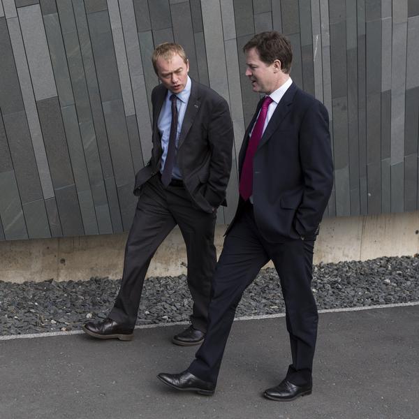 Tim Farron and Nick Clegg