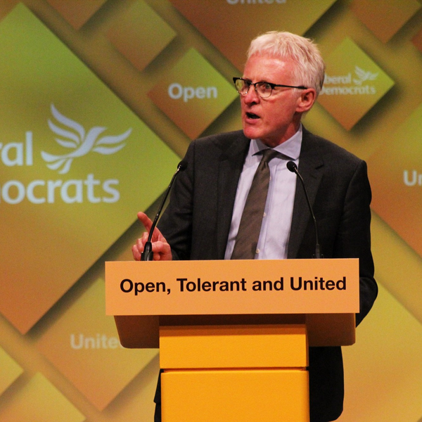 Norman Lamb speaking at Liberal Democrat conference rally (Liberal Democrats on Flickr)