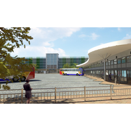 New Bedford Bus Station and Improved Allhallows Car Park Illustration by The Amazing Exhibitionists www.theamazingexhibitionists.co.uk
