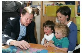 Nick Clegg at Pre School