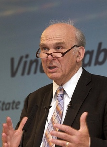 Vince Cable twitter page
