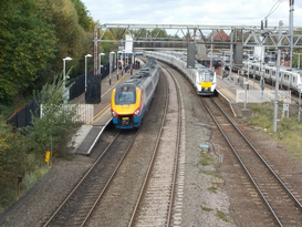 Intercity and Commuter Trains at Bedford Station