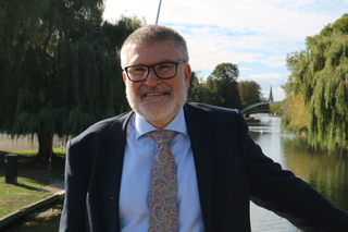 Mayor Dave Hodgson by the River in Bedford