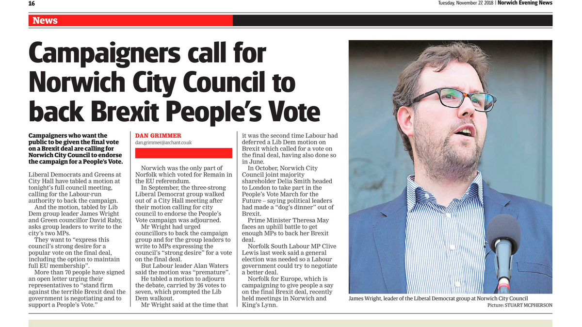 Norwich Evening News - People's Vote