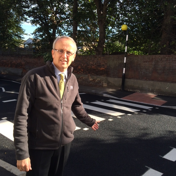 Cllr David Kendall at Warley Hill (Karen Chilvers)