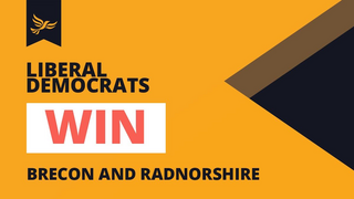 Win in Brecon and Radnorshire