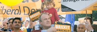 Ed Davey on a Brexit march