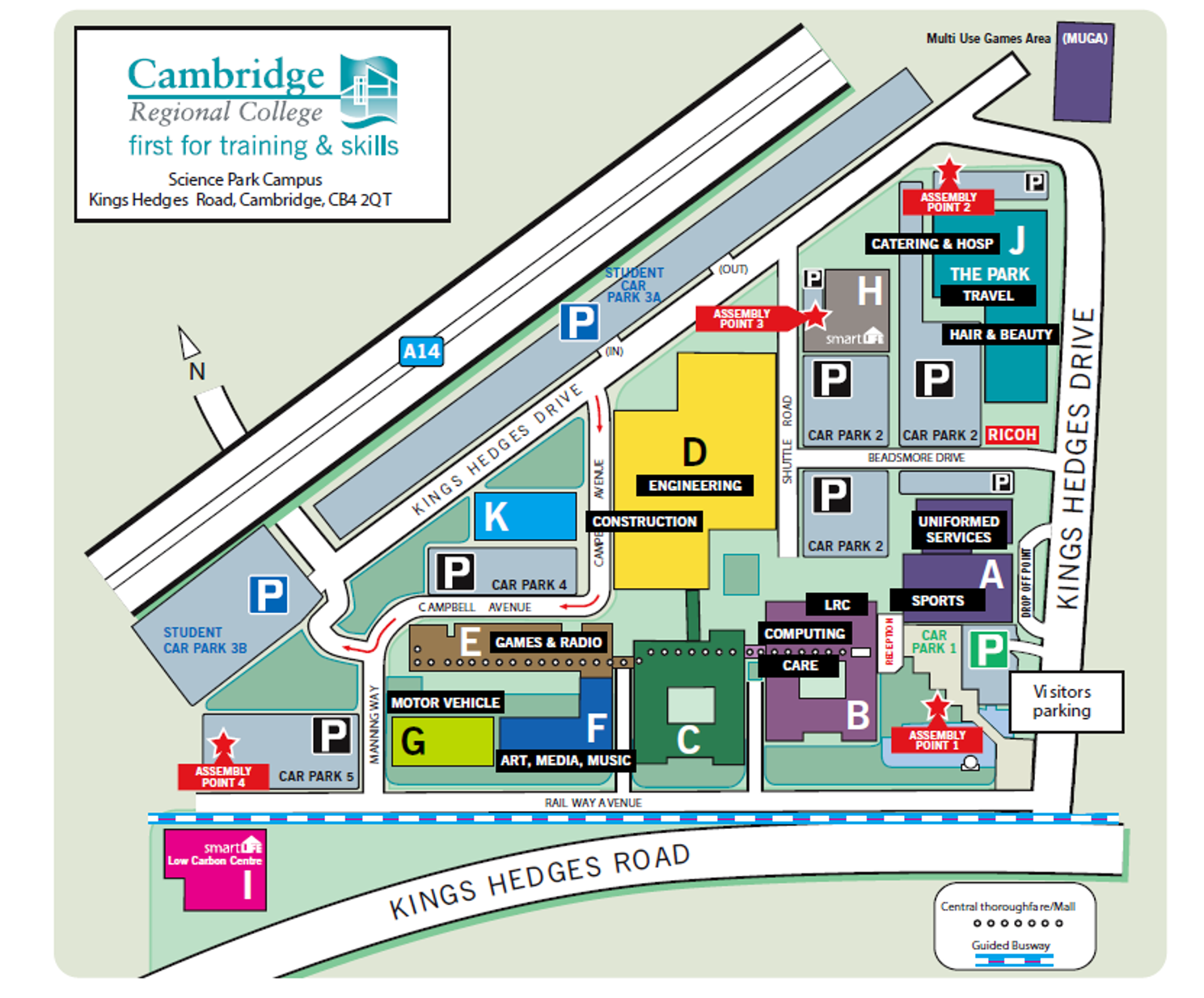 Cambridge regional college site plan
