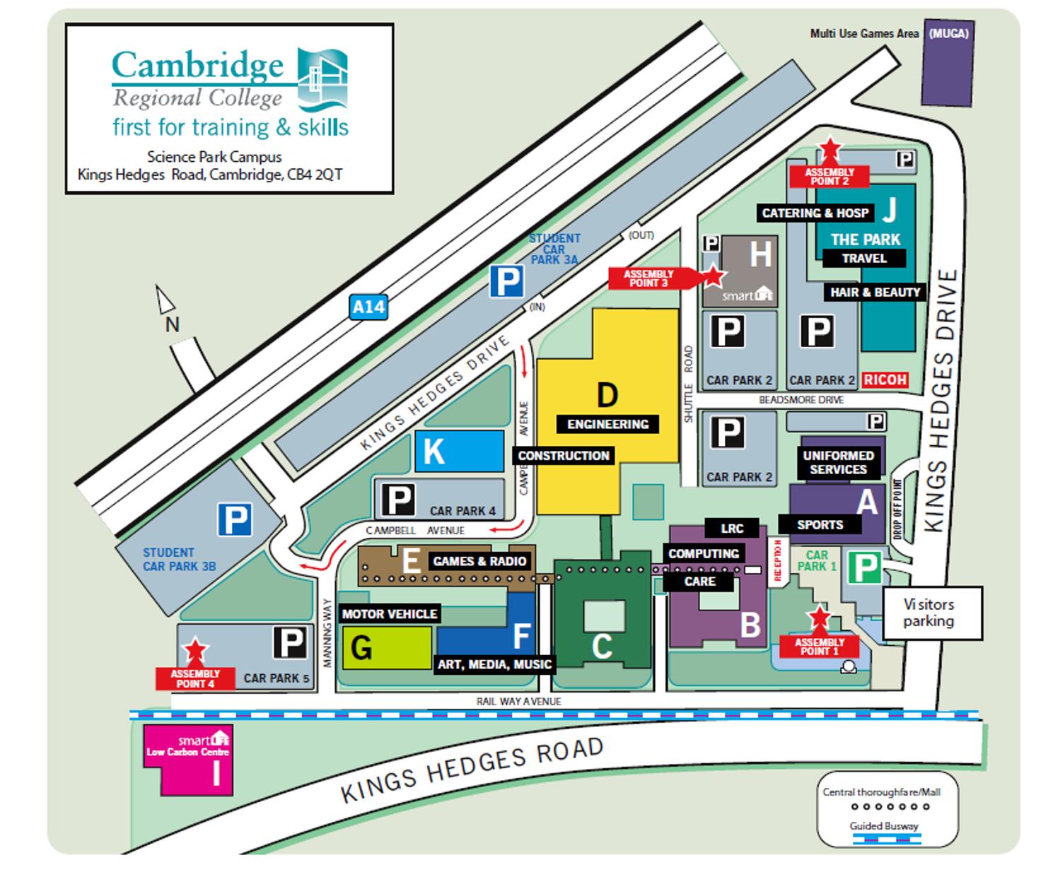 Cambridge regional college site plan