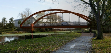 Impression of proposed bridge over River Chelmer (Chelmsford City Council)